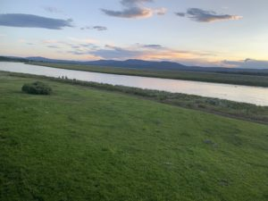 The view from our patio at Trout Lodge, the river was incredible and the sunset too. For more travel and food posts follow www.sprouting-vitality.com #sproutingvitality #kenzinthekitch #mckenzieonthemove