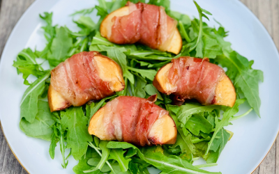 Smoked Prosciutto Peaches