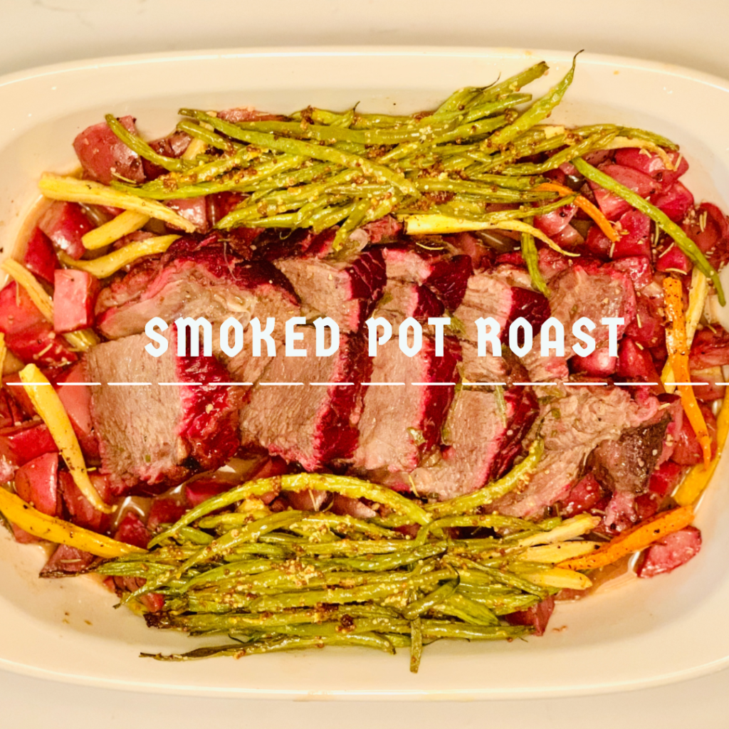 This Smoked Pot Roast is the perfect dinner option for those chilly fall or winter nights. The hit of smokiness paired with red wine is divine. For more recipes or travel posts be sure to follow me at www.sprouting-vitality.com or on instagram @sproutingvitality. #kenzinthekitch #mckenzieonthemove
