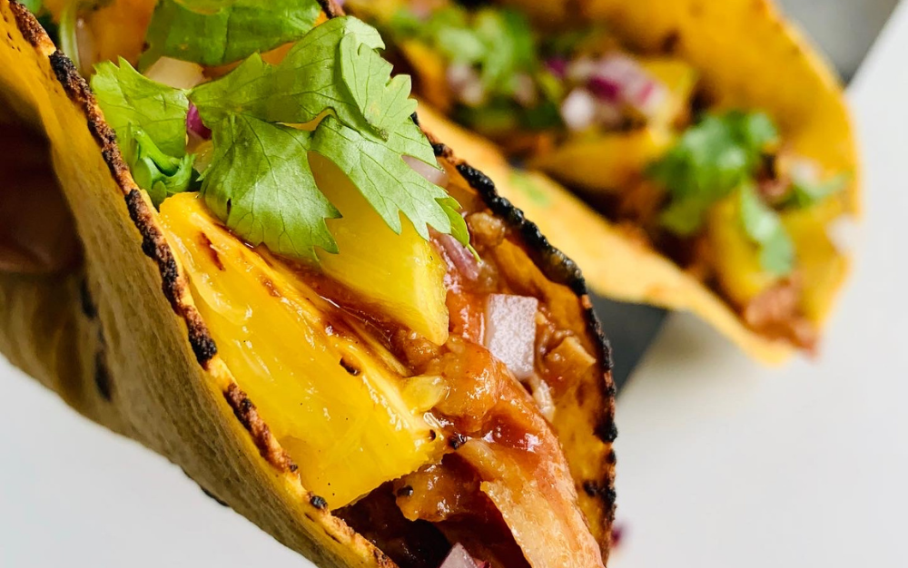 Grilled Pineapple Pulled Pork Tacos