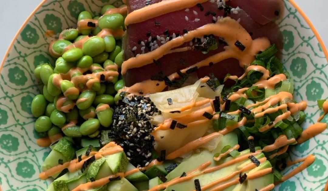 Simple Ahi Sushi Bowl