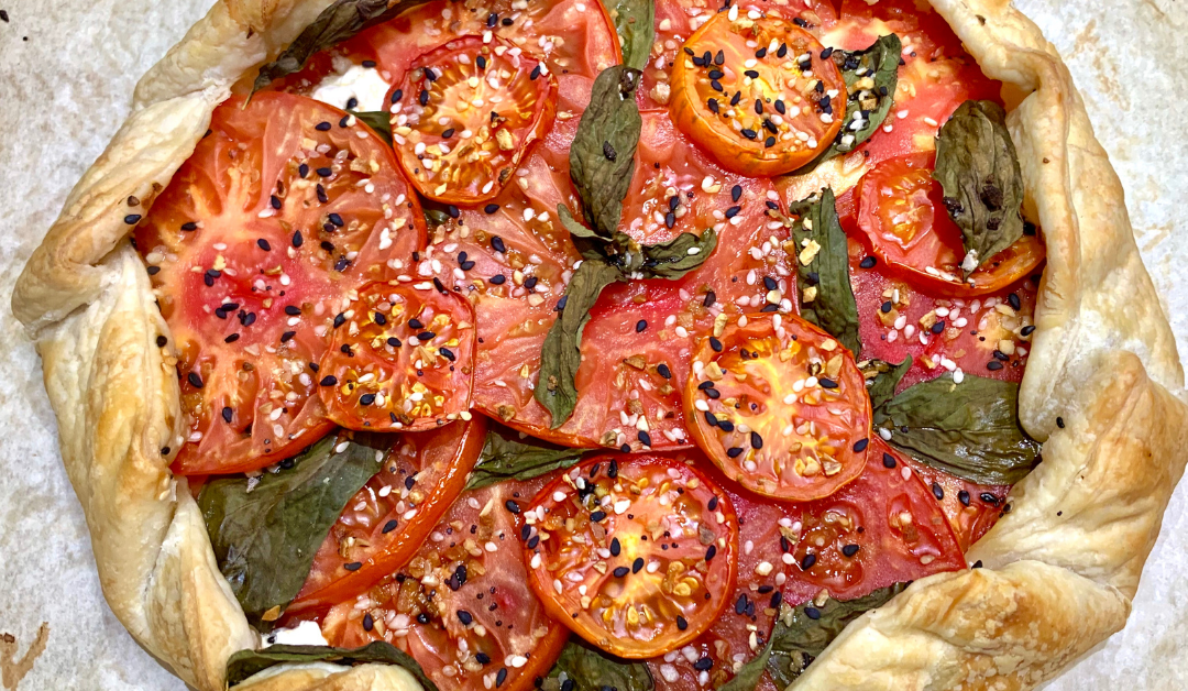 Delicious Tomato, Basil, Cheese Galette