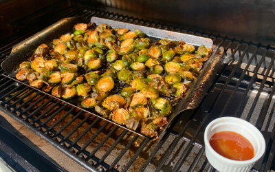 The Best Crispy Smoked Brussels