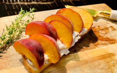 Insanely Delicious Summer Peach Ricotta Toast