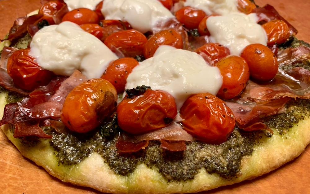 Simple Homemade Summer Prosciutto Pizza